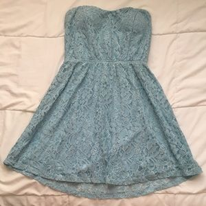 Light blue lacy dress